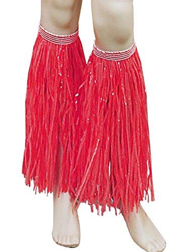 21fashion Delle Blu In Hawaiano Partito Maschera I Rosso Paglia Accessorio Signore Gambe Hula Rifornimenti Womens Del Polsini rq1BIrw