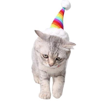Winkey - Disfraz de Papá Noel para Mascotas, Perros, Gatos, Gato