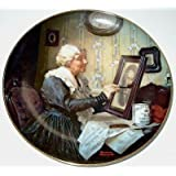 """2009 Norman Rockwell GRANDPA LISTING IN ON THE WIRELESS 8 5//8/"""" Collector Plate"""