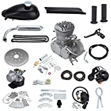 PanelTech 48CC 49CC 50CC 2-Stroke Engine Gas Kit fits 26'' 28'' Motorized Mountain Bicycle Bike (Silver)