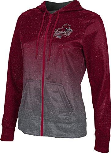 ProSphere Ramapo College of New Jersey Women's Zipper Hoodie, School Spirit Sweatshirt (Ombre) FCFD2 Red and Gray