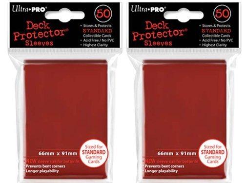 (100x) Ultra PRO Red Deck Protectors Sleeves Standard MTG Colors