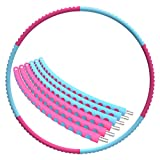 Cheap Mike Sport Weighted Hula Hoop 3lb for Adults for Exercise, Fitness, Fat Burning, and Lose Weight (Red&Blue)