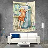 Anhuthree Funny Customed Widened Tapestry A Plump Woman Embracing...