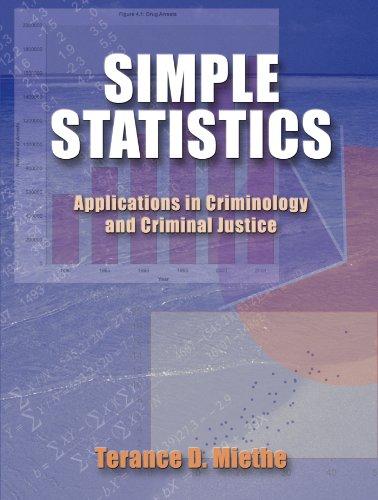Simple Statistics:Appl.In Criminology..