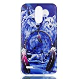 LG Stylo 3 Case, LG Stylo 3 Plus Case, Ngift Soft TPU Flexible Silicone Gel Clear Shock Proof Durable Scratch Resistant Rubber Skin Cover with Cute Cartoon [Wolf] Pattern for LG Stylo 3