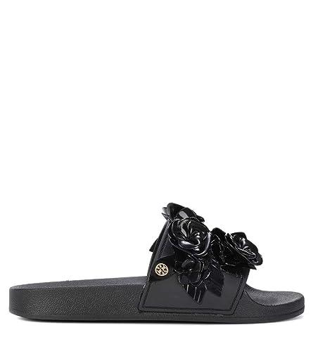 e11be28ea Tory Burch Women s 37844001 Black Rubber Sandals  Amazon.co.uk  Shoes   Bags