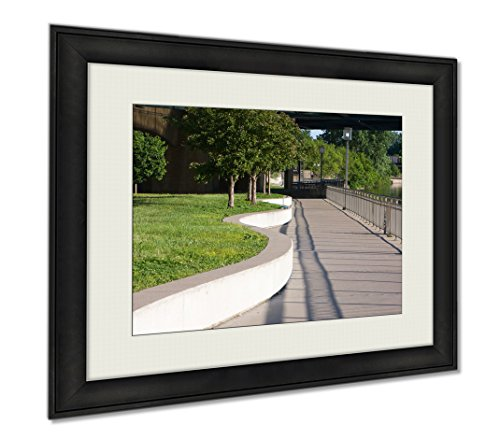 Ashley Framed Prints River Walk, Wall Art Home Decoration, Color, 30x35 (frame size), - Minneapolis Town Down