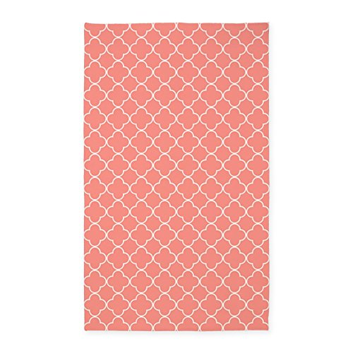 CafePress Coral Quatrefoil Decorative Fabric product image