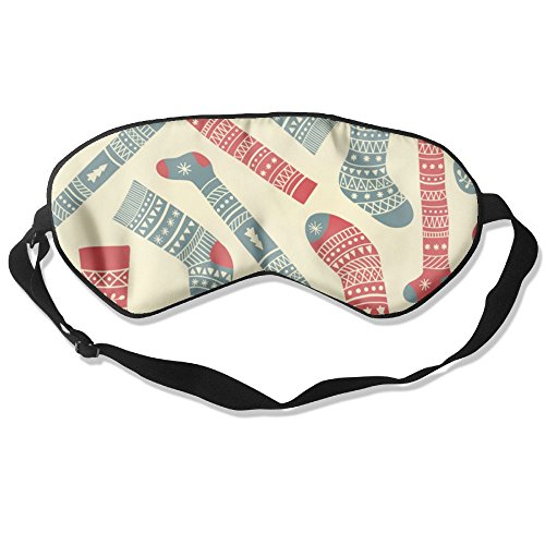 - Sleeping Mask Sets of Socks Pattern Adjustable Head Strap Eyeshade