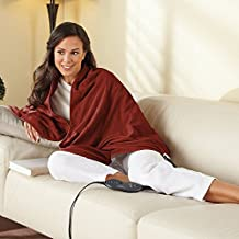 Sunbeam Chill-Away Heated Fleece Wrap, Garnet