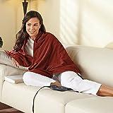 Sunbeam Chill-Away Heated Fleece Wrap, Garnet