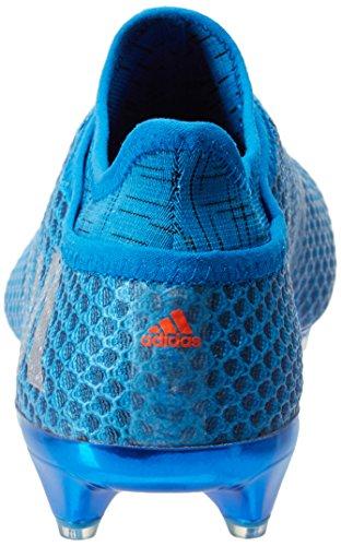 Adidas Messi 16+ Pureagility FG–Scarpe da calcio da uomo, Uomo, blu/argento, 10,5 UK - 45,1 / 3 EU