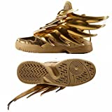 adidas ObyO JS Jeremy Scott Wings 3.0 B35651 Gold Spiky Dark Knight Batman Shoes (Size 4)