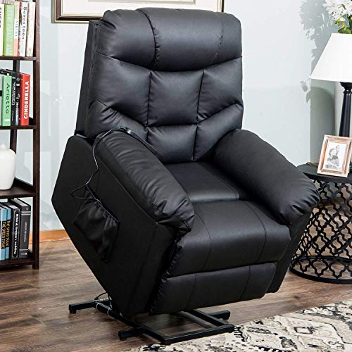 Lift Chairs for Elderly – Lift Chairs Recliners Lift Chairs Electric Recliner Chairs with Remote Control Soft PU Lounge
