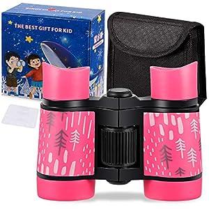 Kid Binoculars Shock Proof Toy Binoculars Set – Bird Watching – Educational Learning – Presents for Kids – Children…