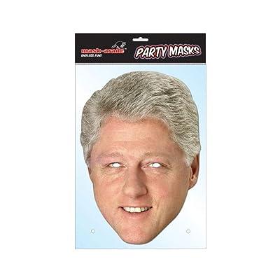 Maskarade Official Bill Clinton US President Cardboard Face Mask: Clothing