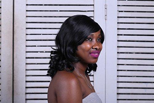 Perruque sexy Femmes Long Naturel Curly Ondulé Noir