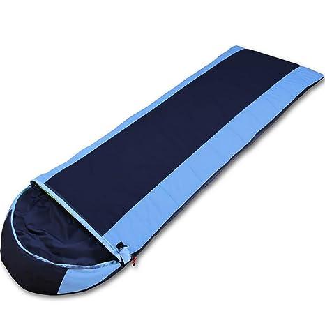 MIAO al aire libre adulto plumas cálida Camping sacos de dormir, azul