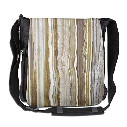 Lovebbag Onyx Marble Rock Themed Vertical Lines And Blurry Stripes In Earth Color Crossbody Messenger Bag - Onyx Vertical Line