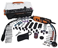 WEN 23190 Variable Speed Steady-Grip Rotary Tool with 190-Piece Accessory Kit, Flex Shaft, and Carrying Case