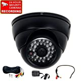 "VideoSecu Built-in 1/3"" SONY Effio CCD Day Night Outdoor IR CCTV Security Camera 700TVL 28 Infrared LEDs Wide Angle High Resolution Vandal Proof with Pre-Amp Microphone,Cable and Power Supply 1ZG"