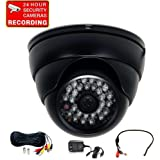 VideoSecu Built-in 1/3 Effio CCD Day Night Outdoor IR CCTV Security Camera 700TVL 28 Infrared LEDs Wide Angle High Resolution Vandal Proof with Cable and Power Supply 1ZG