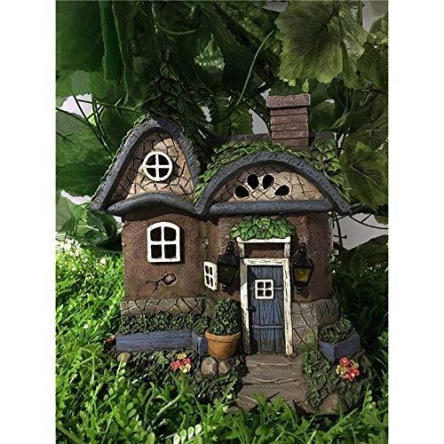 Hi-Line Gift Ltd Fairy Garden Cottage with Solar LED Lights