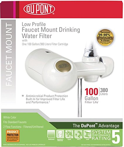 DuPont WFFM300XW Premier Faucet Mount Horizontal 100-Gallon Capacity Water Filter, White by DuPont