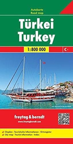 Freytag Berndt Autokarten, Türkei - Maßstab 1:800 000 (freytag & berndt Auto + Freizeitkarten)