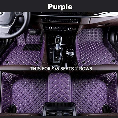 BYOLPMKK-Jiajia Accessories Custom Car Floor Mats for Jac All Model JAC S2 S3 T5 Rein13 S5 Faux S5 (Color Name : Purple-4/5Seat)