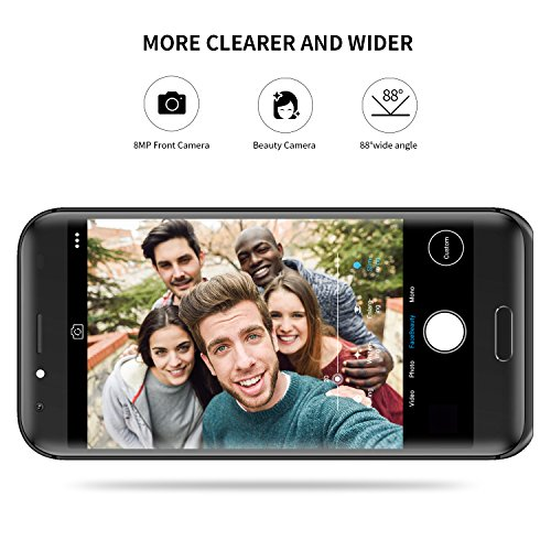 DOOGEE BL5000, Unlocked Phones Dual SIM Smartphone Unlocked Android 7.0 - 5.5'' FHD Screen - MT6750T - 5050mAh Battery - 4GB RAM + 64GB ROM - Dual 13MP Camera - 4G Unlocked Cell Phones - Black