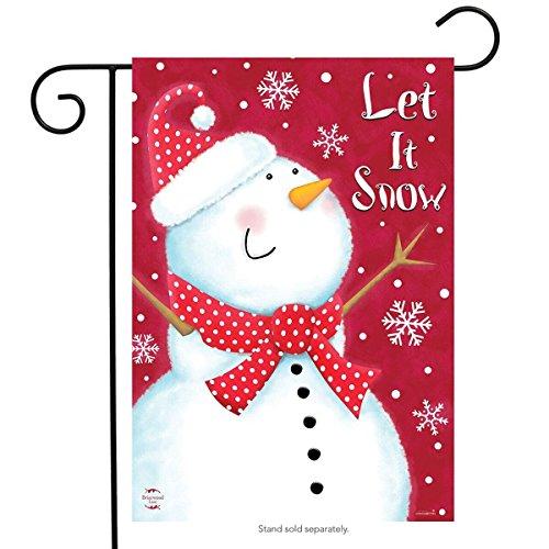 Briarwood Lane Snow Day Snowman Garden Flag Winter Primitive 12.5