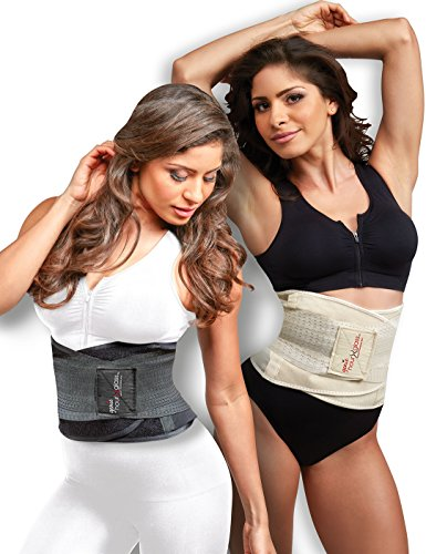 Genie Hourglass Waist Trainer Belt (Black S/M) – Shapewear for ()