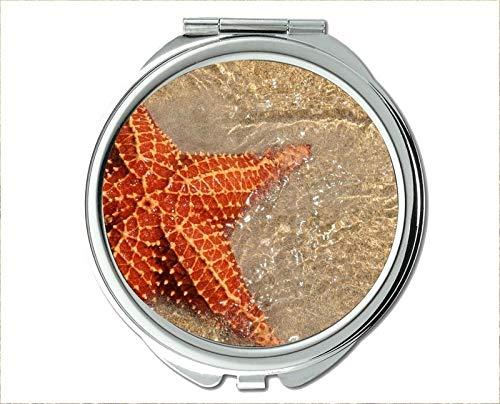 Mirror,Compact Mirror,beta fish theme of Pocket Mirror,portable mirror 1 X 2X -