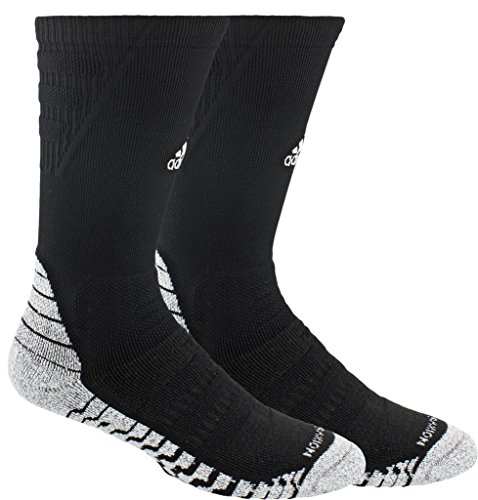 - adidas Alphaskin Traxion Maximum Cushioned Crew Socks (1-Pack), black/white, 12-16