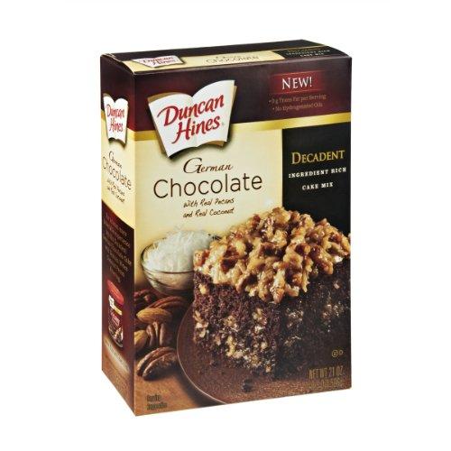 Duncan Hines Cake Mix German Chocolate Brownie Recipe