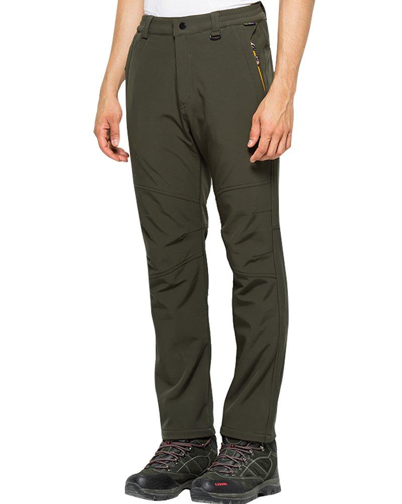 Jessie Kidden Women's Outdoor Windproof Waterproof Hiking Mountain Ski Pants with Soft Shell Fleece Lined #5088F