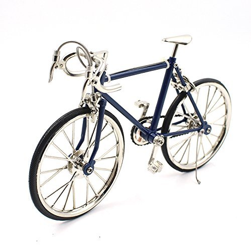 T.Y.S Racing Bike Model Alloy Simulated Road Bicycle Model Decoration Gift, Dark Blue
