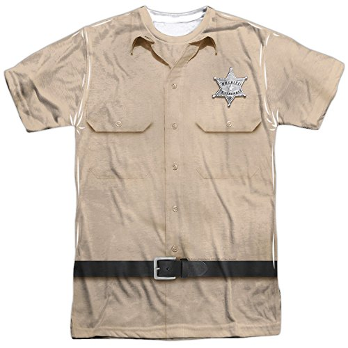 Trevco Andy Griffith Sheriff Andy Uniform Unisex Adult Sublimated T Shirt For Men and Women