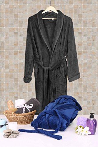 NY-Threads-Mens-Fleece-Hooded-Bathrobe-Shawl-Collar-Ultra-Soft-Spa-Robe-Comfortable-Absorbent-and-Durable-by