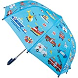 Kids Umbrella - Childrens 18 Inch Rainy Day Umbrella - Emergency Vehicles
