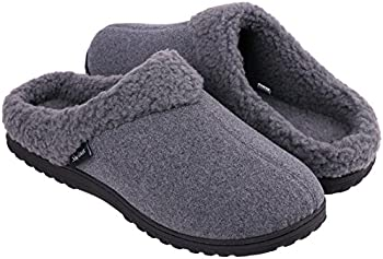 Snug Leaves Men's Cozy Memory Foam Slippers
