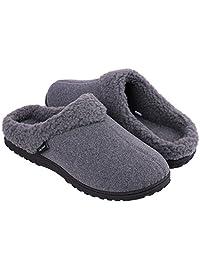 45ca593df0a28f Snug Leaves Men s Cozy Memory Foam Slippers Wool-Like Plush Fleece Lined  House Shoes w