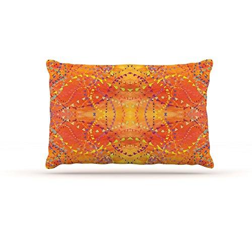 Kess InHouse Nikposium Sunrise  orange gold Dog Bed, 30 by 40-Inch