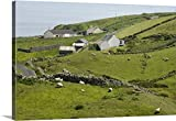 greatBIGcanvas Gallery-Wrapped Canvas entitled Ireland, Donegal. Homes and grazing sheep in green countryside by Wendy Kaveney 48''x32''
