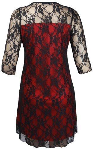 Buy lace sleeved black dress - 7