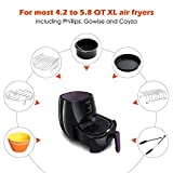 Air Fryer Accessories 8 Inch for 5.8 qt XL Air Fryer, 9 pieces for Gowise Phillips and Cozyna Air Fryer, Fit 4.2 qt to 5.8 qt, ONLY sell from FamilyLike, all other sellers are FAKE