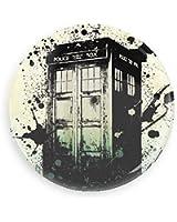 Doctor Who TARDIS Paint Splatter Pin-back Button/ magnet