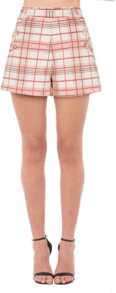 What Did Women Wear in the 1950s? 1950s Fashion Guide Voodoo Vixen Womens Kathy Plaid High Waist Shorts Pink $28.95 AT vintagedancer.com